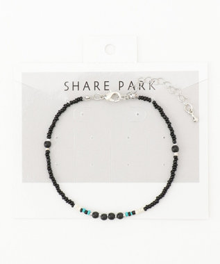 SHARE PARK LADIES ビーズミックスブレス ブラック系