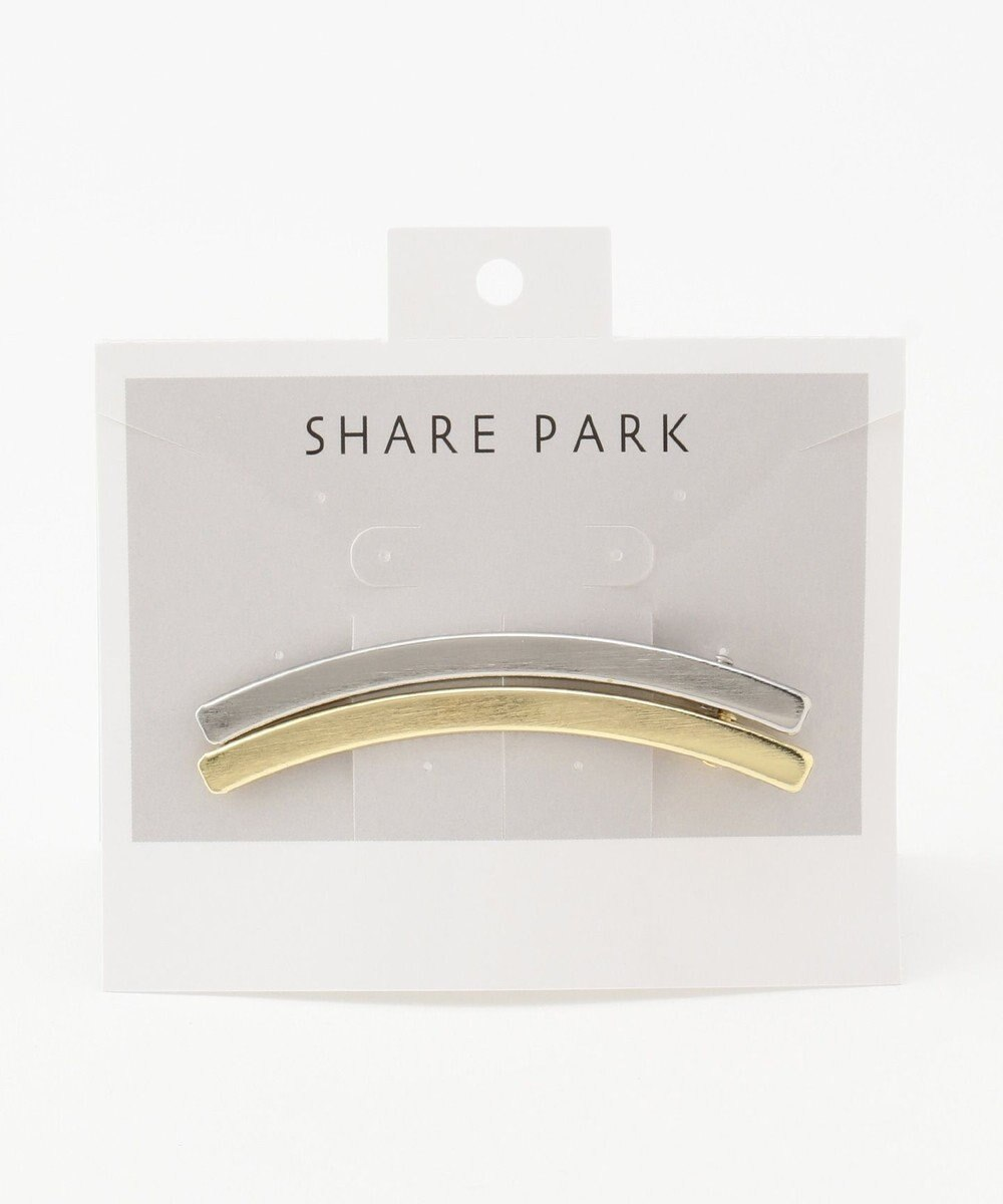 SHARE PARK LADIES シアーメタルカーブヘアアクセ ホワイト系