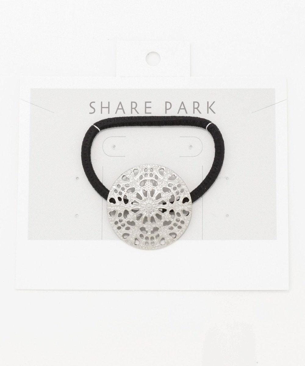 SHARE PARK LADIES スノークリスタルヘアゴム シルバー系