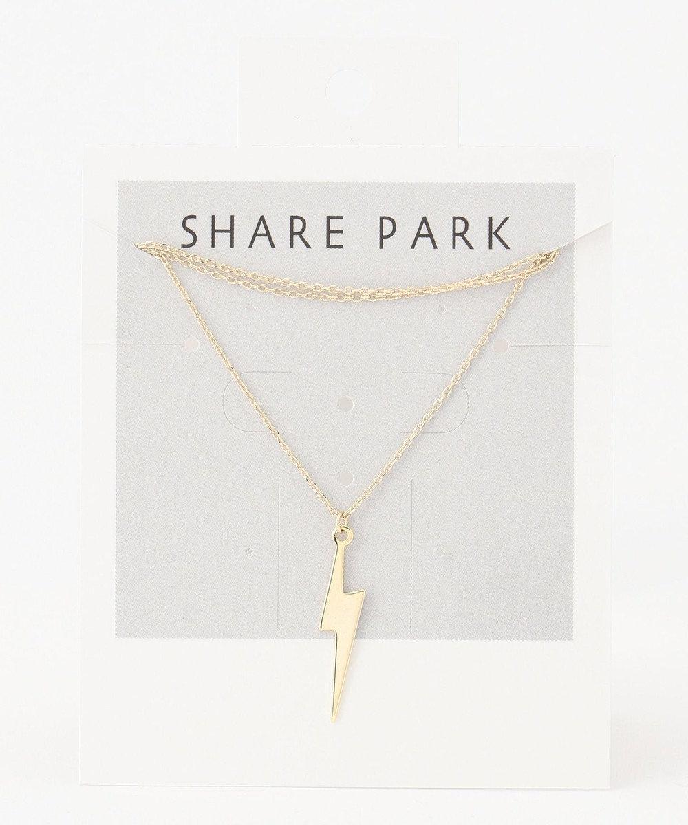 SHARE PARK LADIES メタルハングネックレス ゴールド系