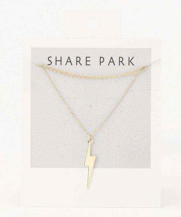 SHARE PARK LADIES メタルハングネックレス
