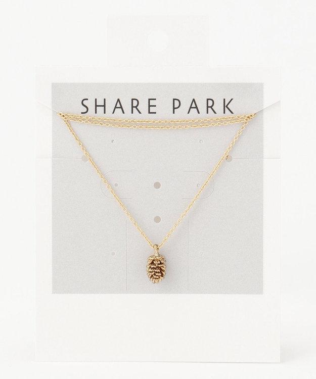 SHARE PARK LADIES メタルシードネックレス