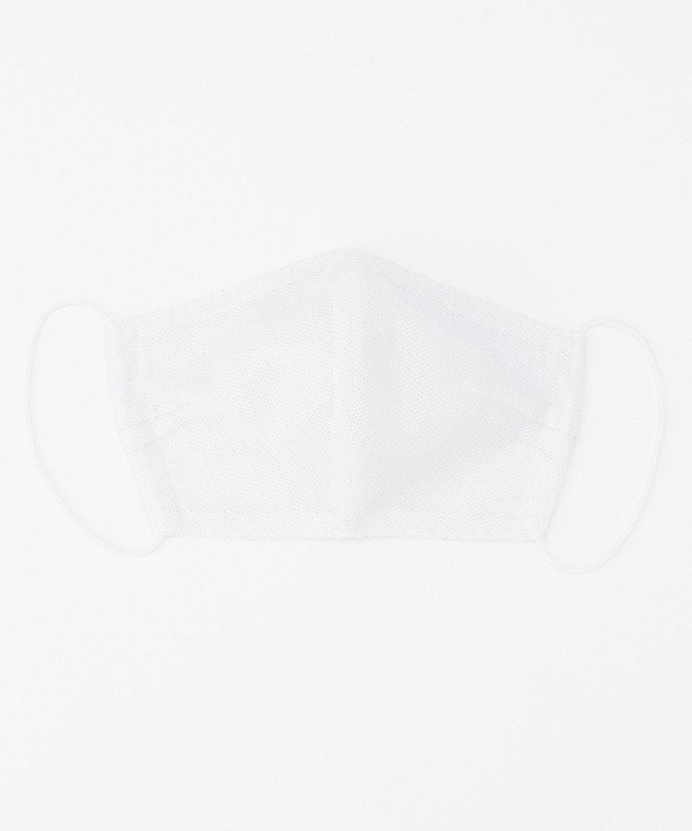Production Labo 【抗菌/防臭/接触冷感】布製マスク11(メッシュ) 3枚セット ホワイト/普通サイズ