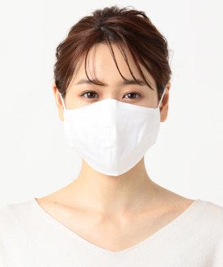 Production Labo 【接触冷感】布製マスク13(綿麻) 3枚セット ホワイト無地/小さめサイズ