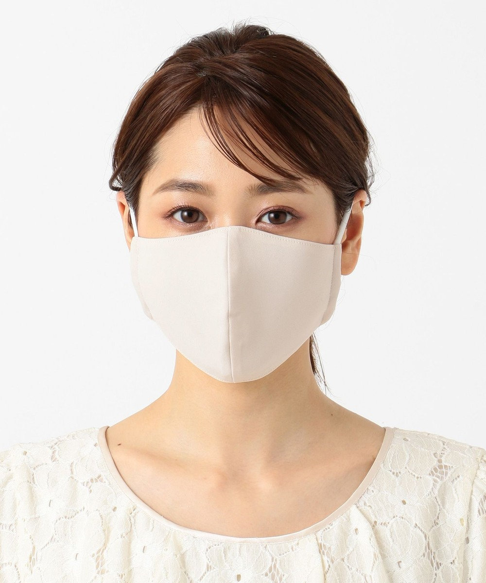 Feroux 【UVケア・接触冷感】花柄ケース付フェミニンCOOL マスク ベージュ