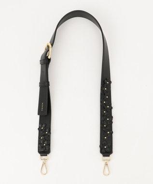 TOCCA 【BAG COLLECTION】FLOWER DROP SHOULDER STRAP ストラップ ブラック系