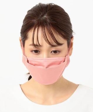 自由区 【UVケア/接触冷感/洗える/飛沫ブロック】 レース付きマスク ローズ系