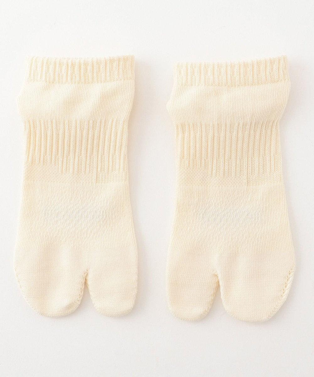 自由区 【Unfilo・SYN:】JOGGING SOCKS 靴下 アイボリー系