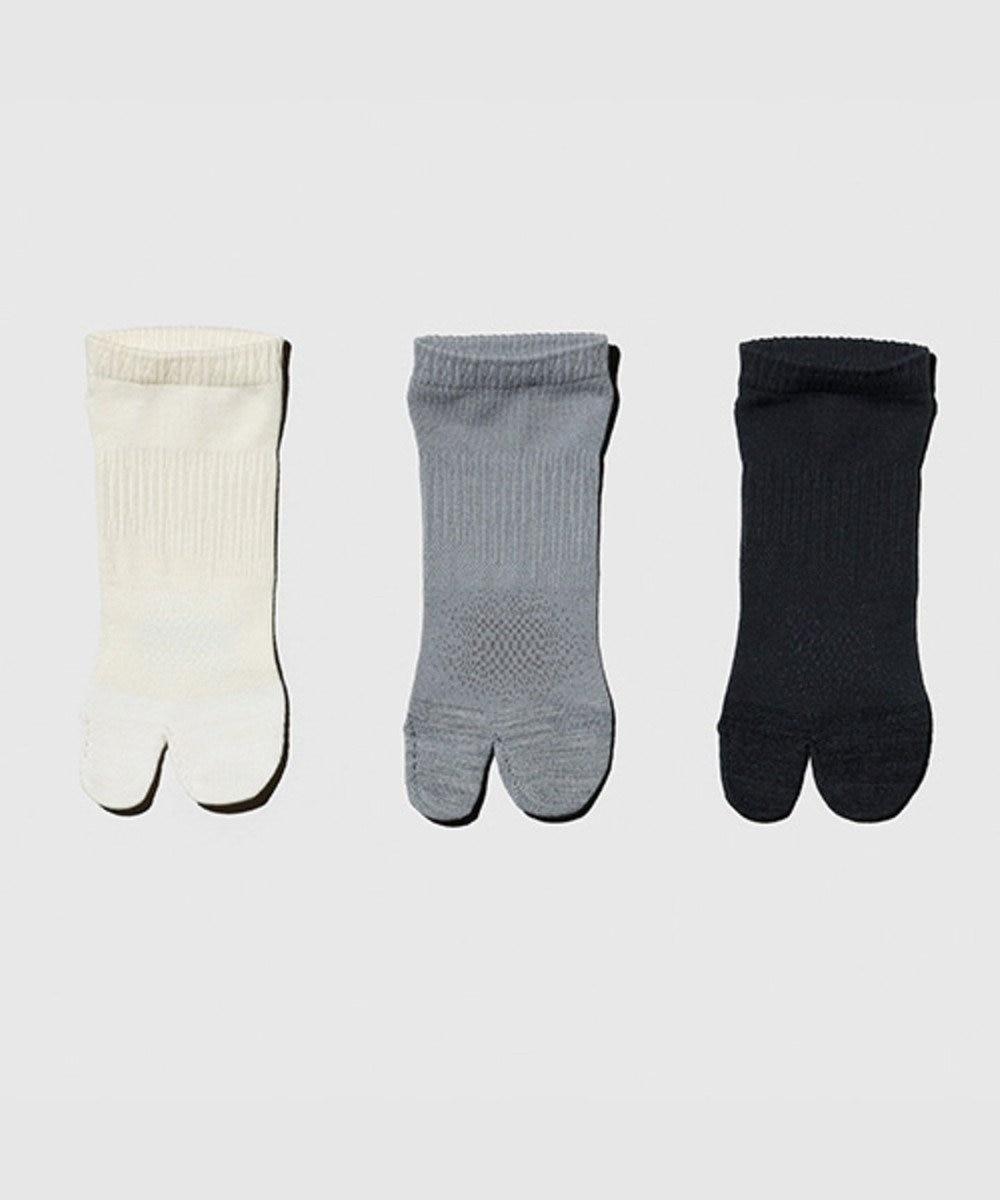 自由区 【Unfilo・SYN:】JOGGING SOCKS 靴下 ライトグレー系