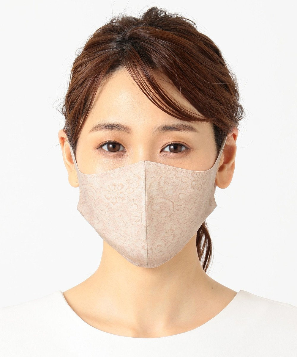 自由区 【UNFILO/小顔見え】新開発 ストレッチ マスク(レース) アンティークルージュ