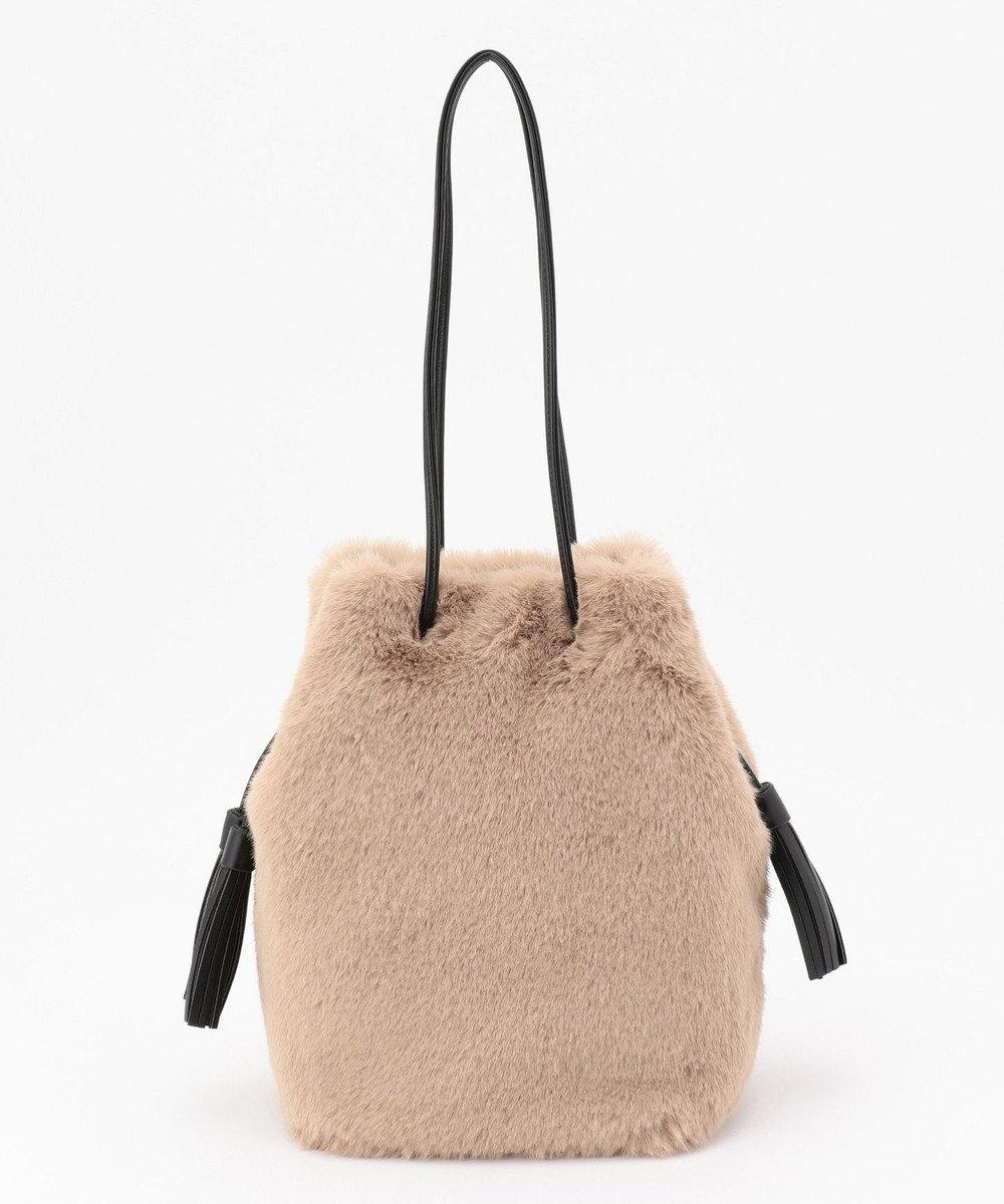 自由区 【UNFILO】エコファー 巾着バッグ(検索番号:UG58) ブラウン系