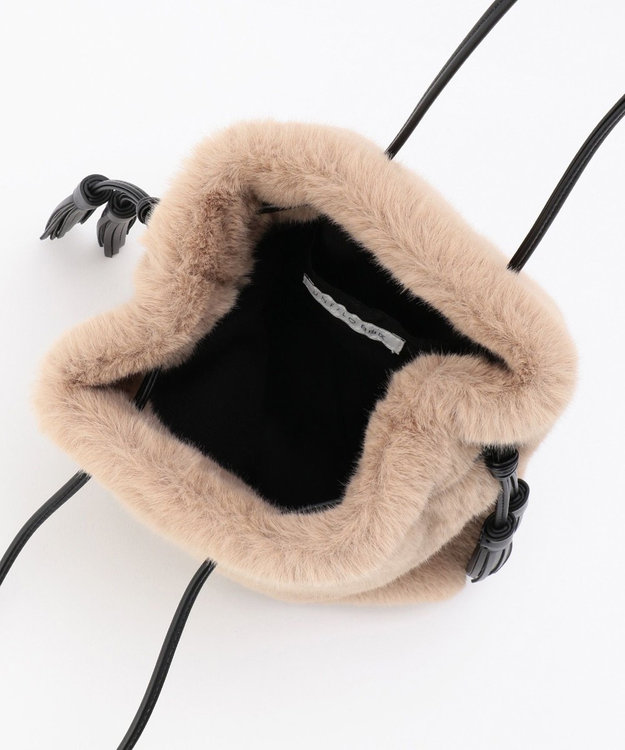 自由区 【UNFILO】エコファー 巾着バッグ(検索番号:UG58)