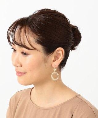 any SiS 【美人百花11月号掲載】オーバルモチーフ イヤリング ライトゴールド