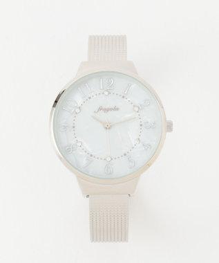 any SiS サークルフレーム バングル ウォッチ(腕時計) シルバー系