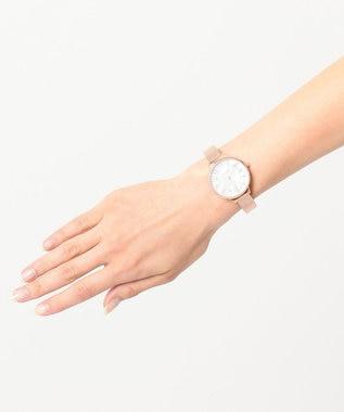 any SiS サークルフレーム バングル ウォッチ(腕時計) ピンク系