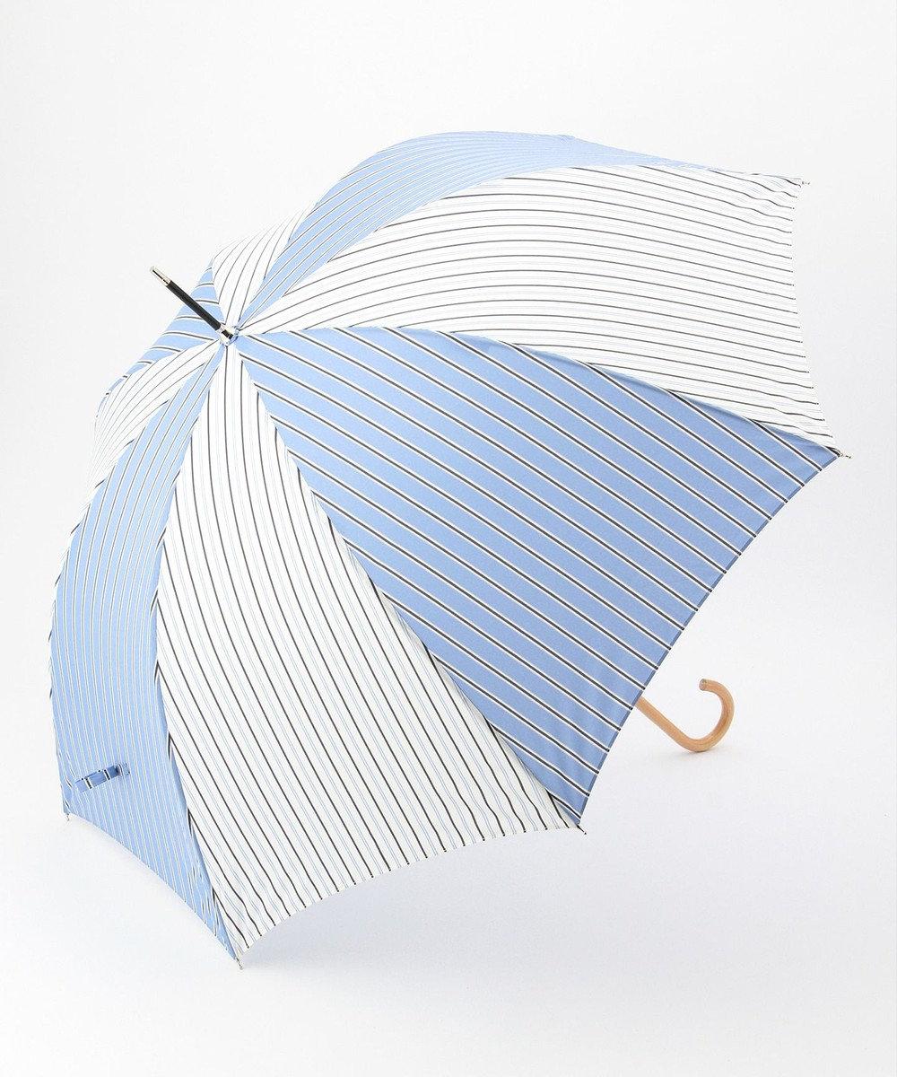 any SiS 【晴雨兼用】ストライププリント 傘 スカイブルー系