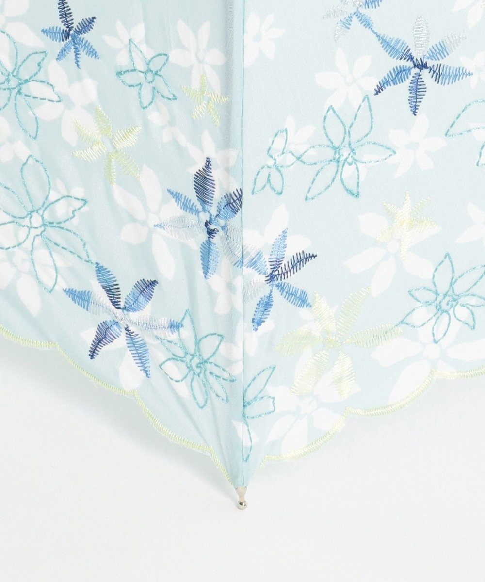 any SiS 【晴雨兼用】フラワープリント 傘 ライトグリーン系