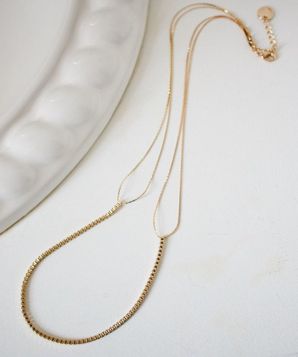 any SiS ミドルメタルチェーン ネックレス ゴールド系