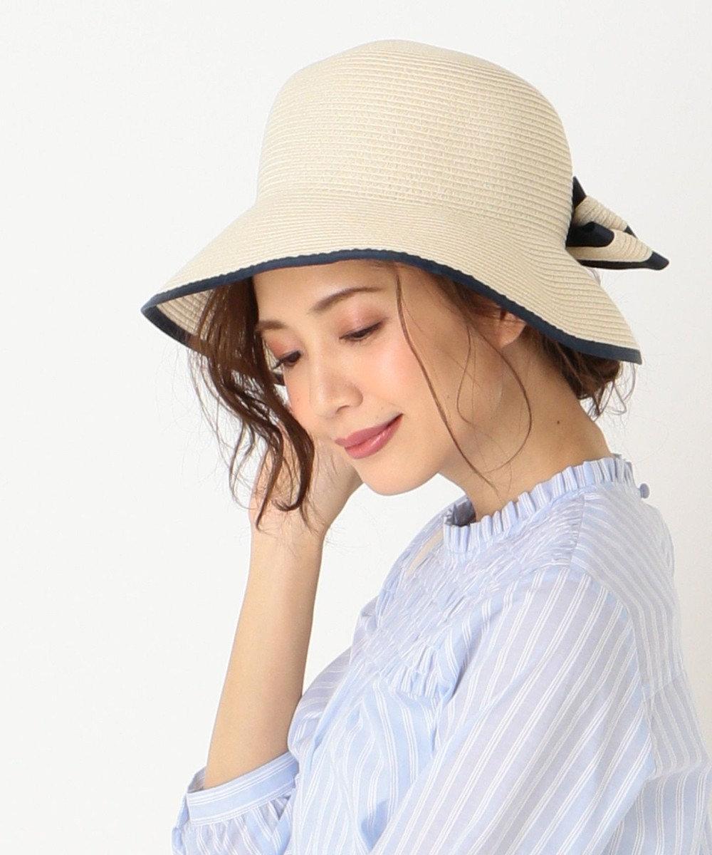 any SiS 【UVケア&洗える&サイズ調整可】バックリボンウォッシャブル ハット ベージュ系