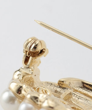 any SiS 【再入荷】フェイクパールブーケ ブローチ ゴールド系
