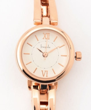 any SiS サークルフレーム ウォッチ(腕時計) ピンク系