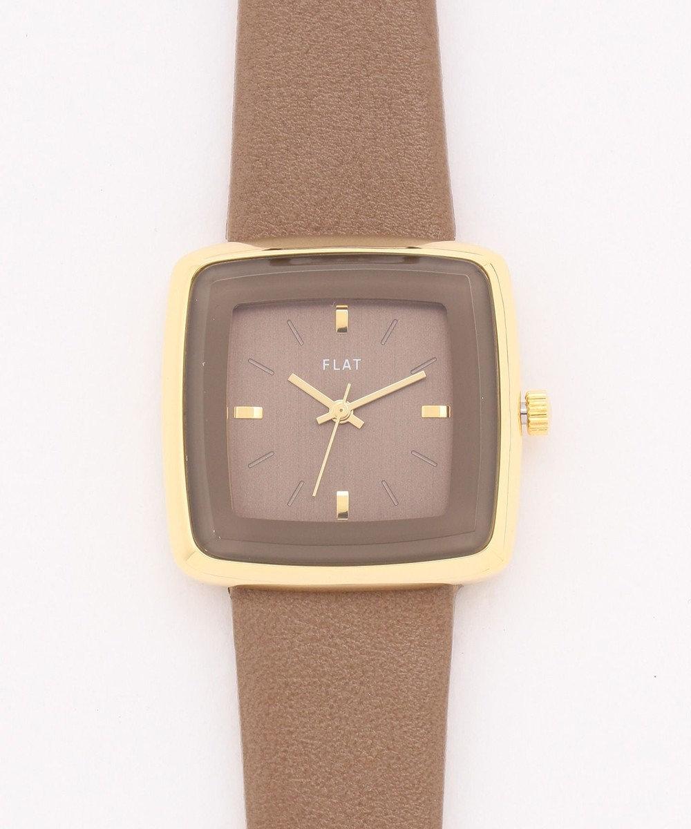 any SiS スクエアフレーム ウォッチ(腕時計) キャメル系