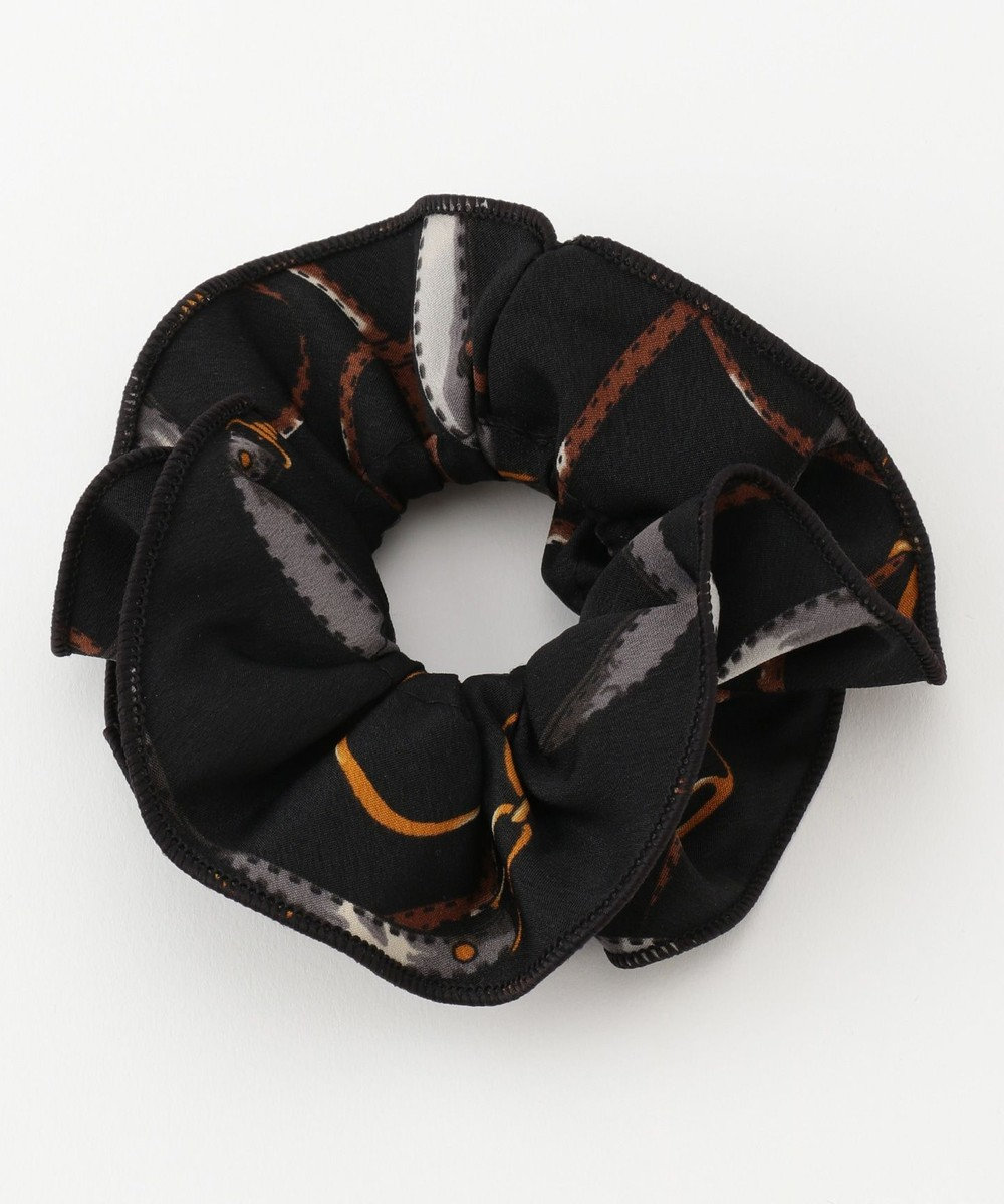 any SiS スカーフ風 シュシュ ブラック系