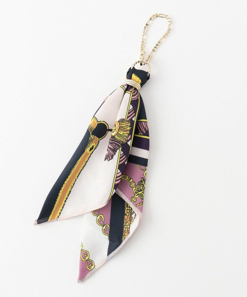 any SiS スカーフ チャーム ブラウン×グリーンピンク