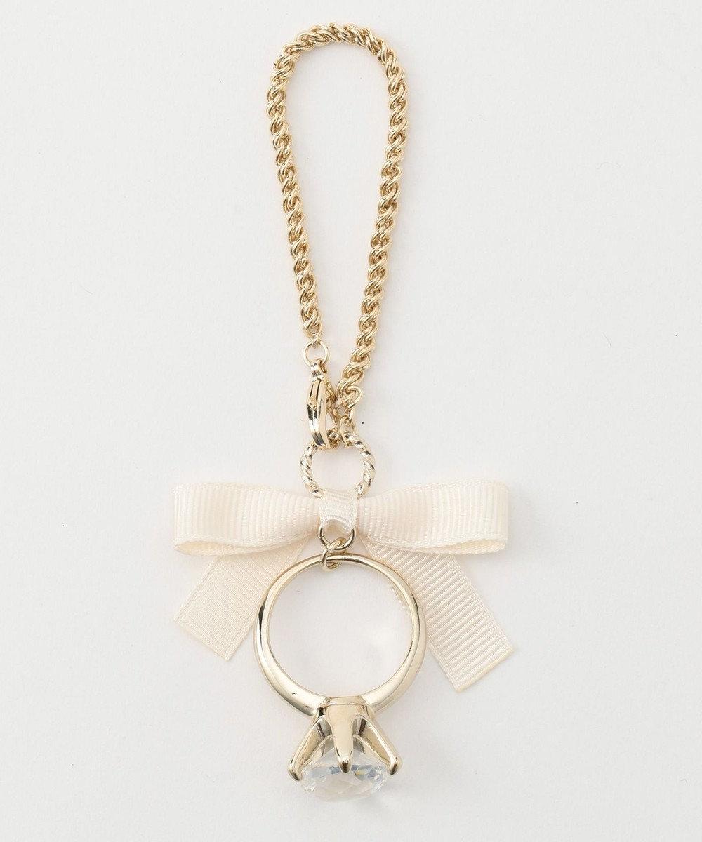 any SiS ダイヤリングモチーフ チャーム アイボリー系