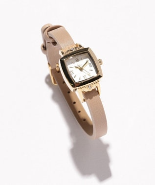 any SiS レトロスクエア ウォッチ(腕時計) キャメル系