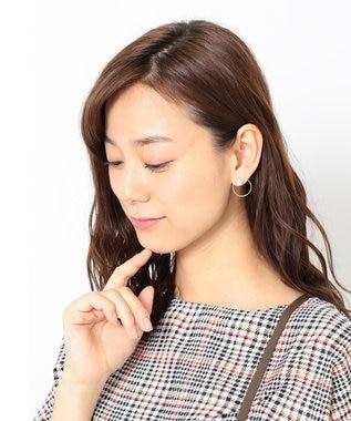 any FAM 【2WAY】ビジュー/パール風 ピアス ホワイト系