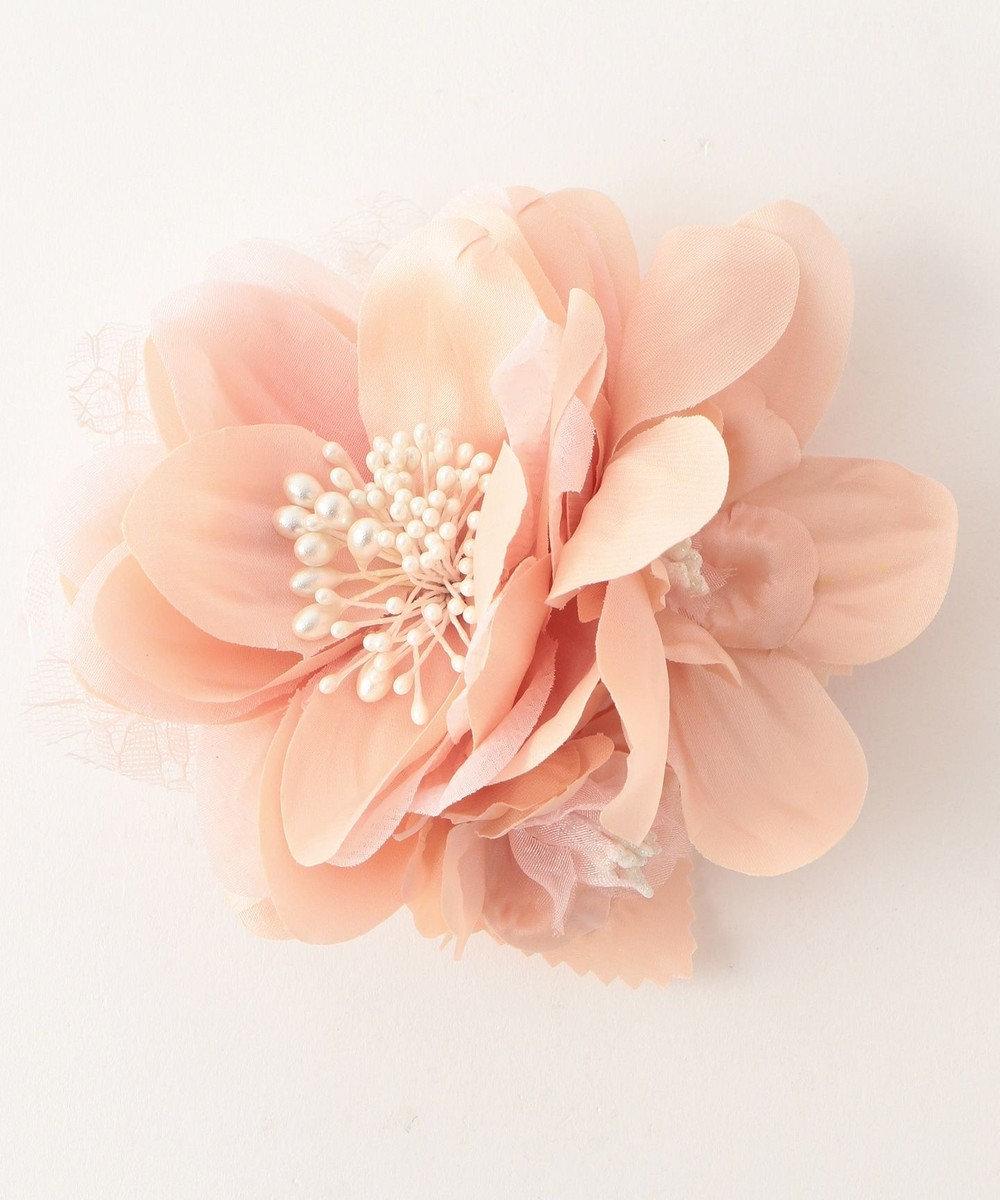 any FAM 【セレモニー】ペアフラワー葉付 コサージュ ピンク系