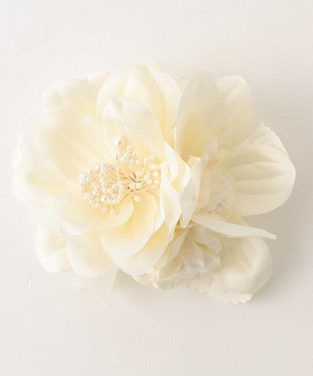any FAM 【セレモニー】ペアフラワー葉付 コサージュ
