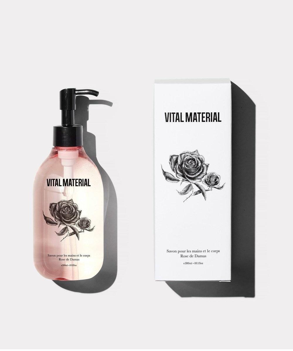 ICB 【VITAL MATERIAL/ヴァイタル マテリアル】ハンド&ボディソープ ダマスクローズの香り