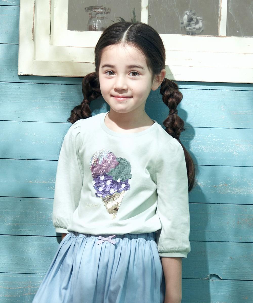 ミラクルスパンコール七分袖Tシャツ
