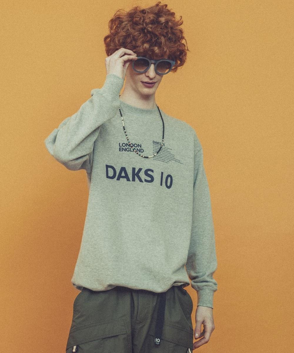 【オンワード】 DAKS>トップス 【DAKS10】ロゴスウェット カットソー ライトグレー L メンズ 【送料無料】
