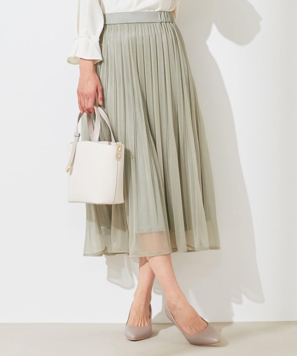 【洗える】ブライトシアープリーツ スカート