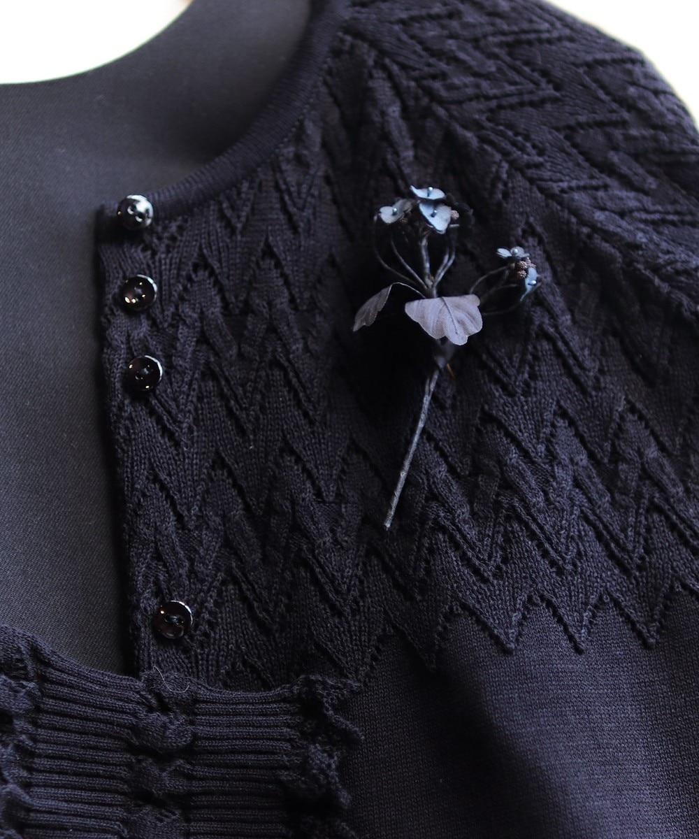 【オンワード】 AND WOOL>アクセサリー 【菜の花】ブローチ ブラック F レディース