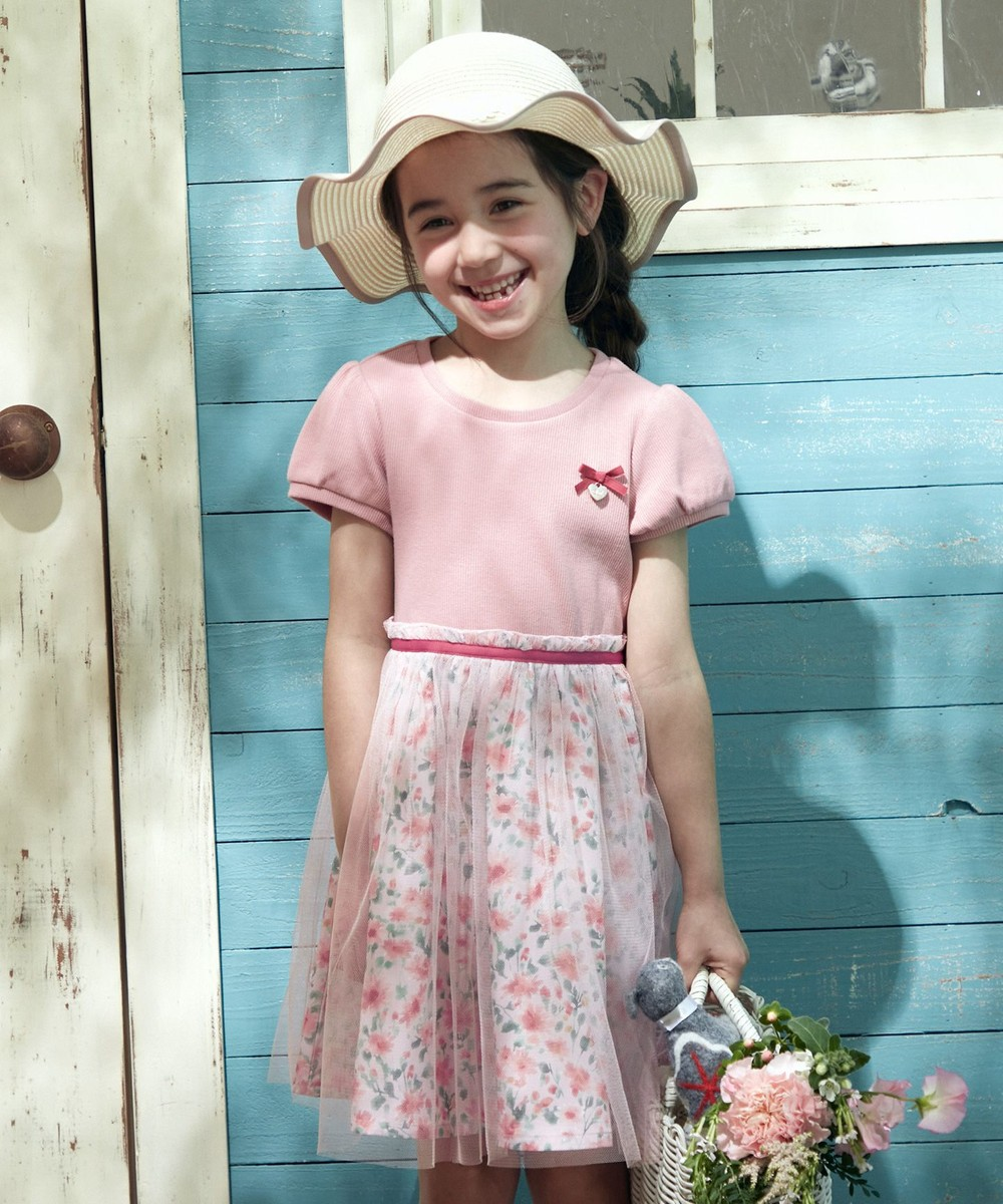 【オンワード】 any FAM KIDS>ワンピース 花柄ドッキング ワンピース ピンク 140 キッズ 【送料無料】