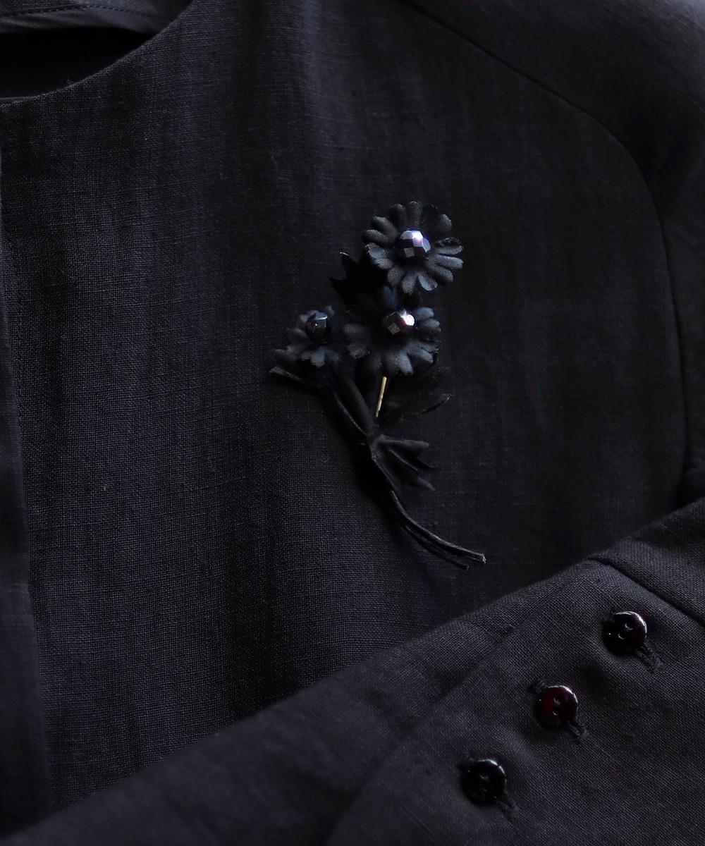 【オンワード】 AND WOOL>アクセサリー 【カモミールの花】ブローチ ブラック F レディース