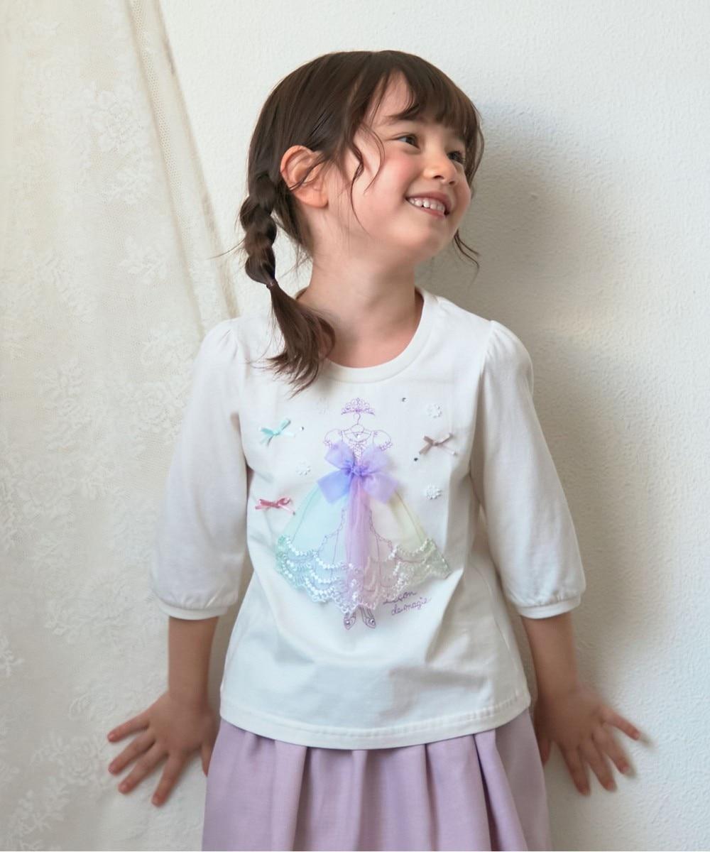 プリンセスモチーフ 七分袖 Tシャツ