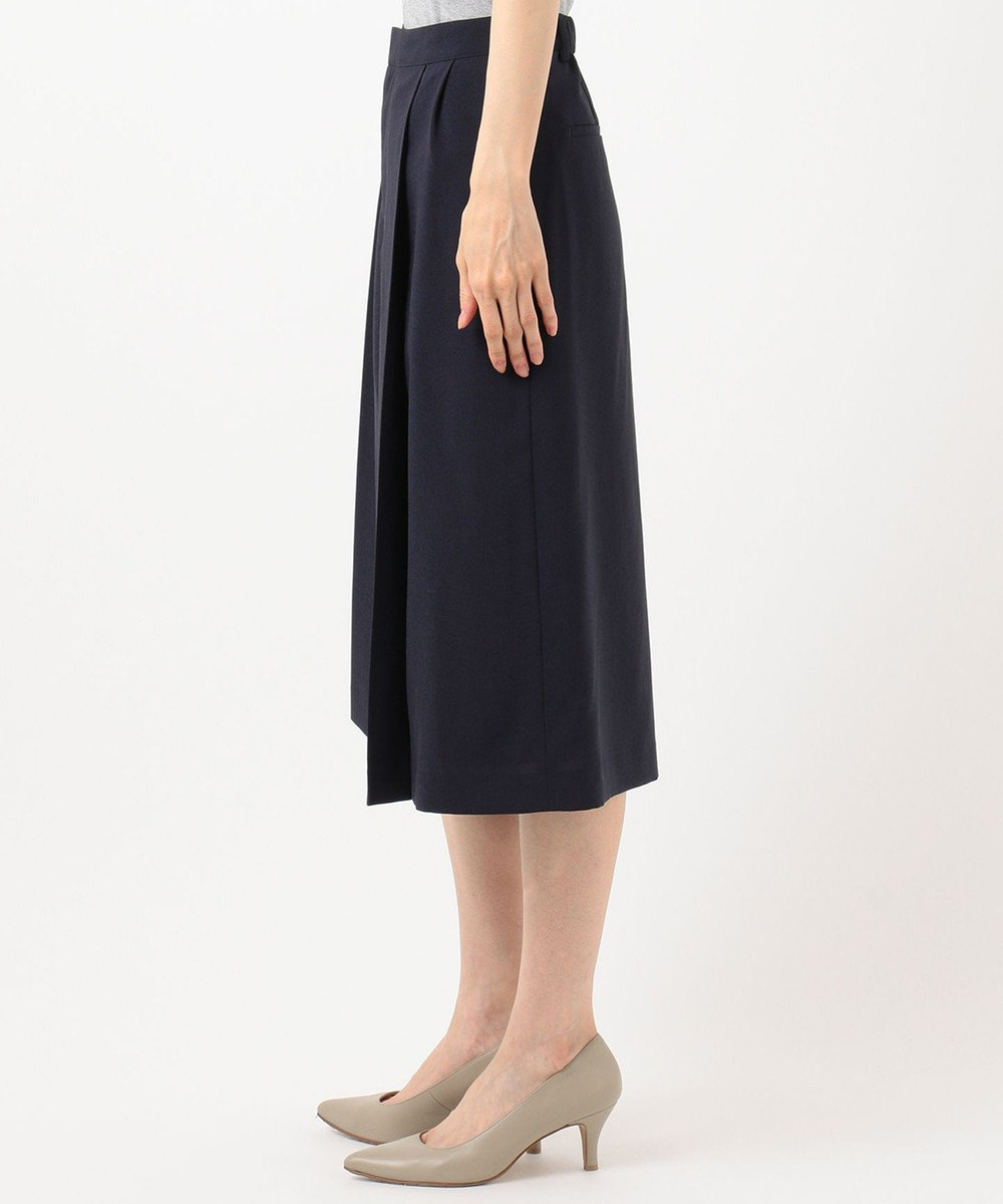 J.PRESS LADIES S 【イージーケア・接触冷感・洗える】マルソースパンボイル パンツ ネイビー系