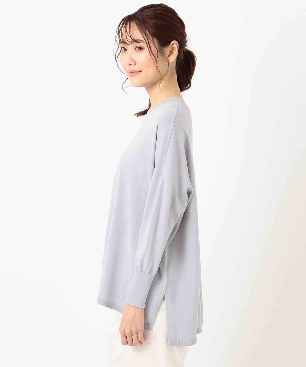 any SiS L 【洗える】ドルマンオーバー ニット スカイブルー系