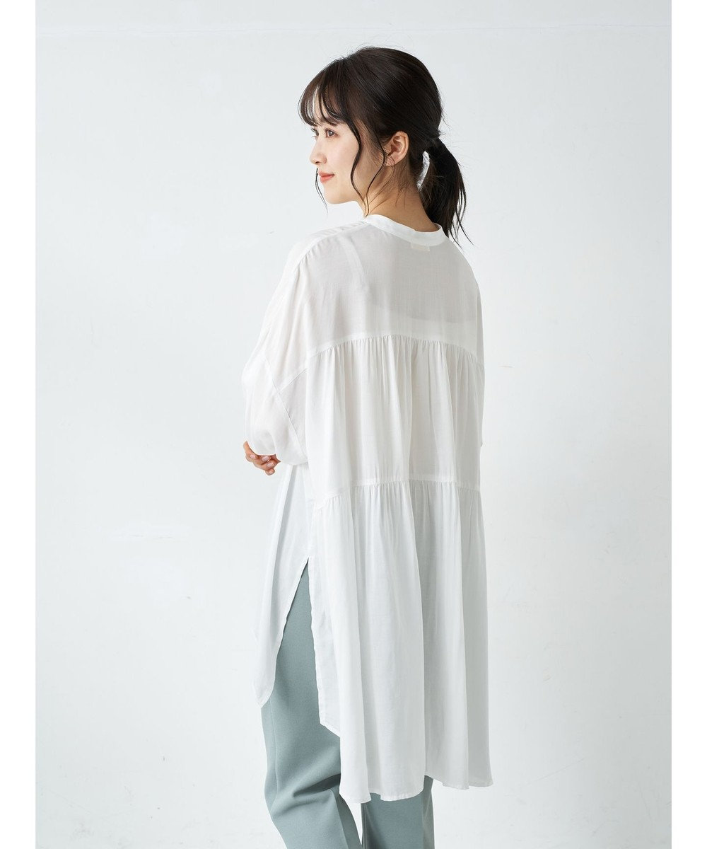 earth music&ecology バックティアードチュニック Off White