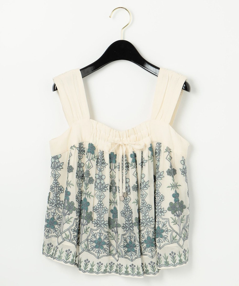 GRACE CONTINENTAL エスニック刺繍ノースリーブ キナリ