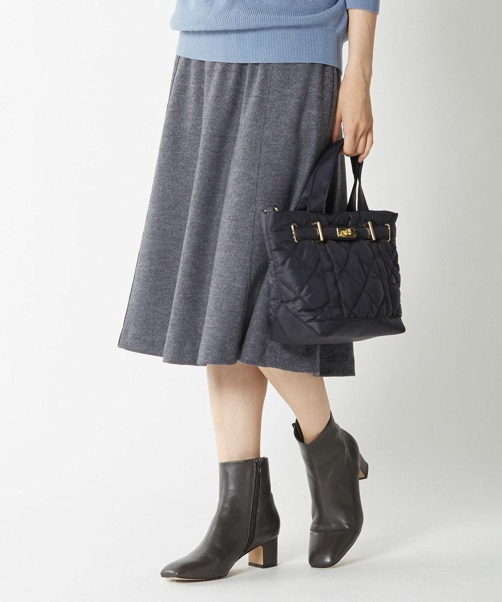 J.PRESS LADIES L 【洗える】ウールスムースジャージー スカート グレー系