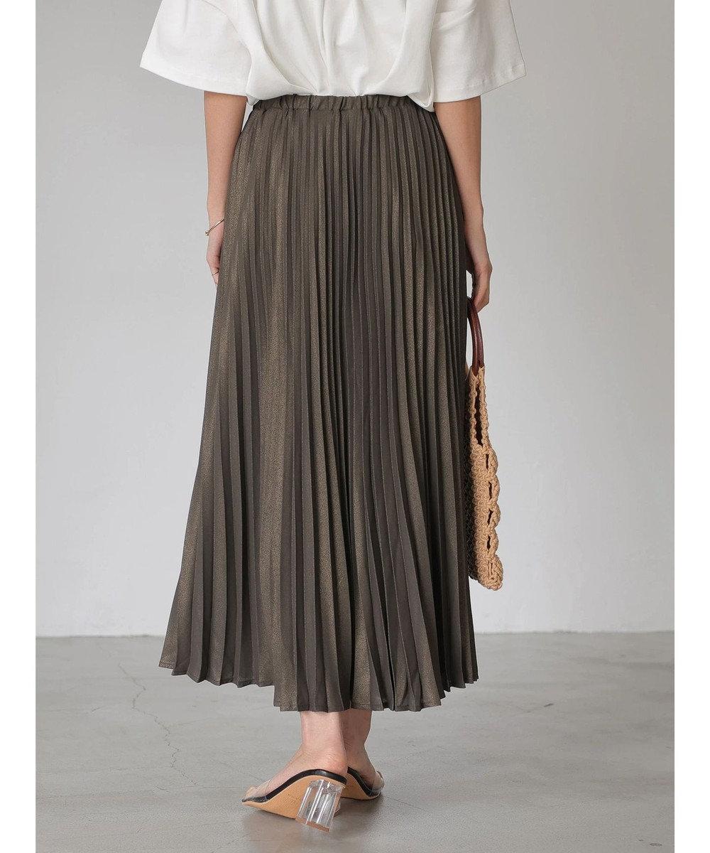 AMERICAN HOLIC ラメプリーツスカート Charcoal Gray