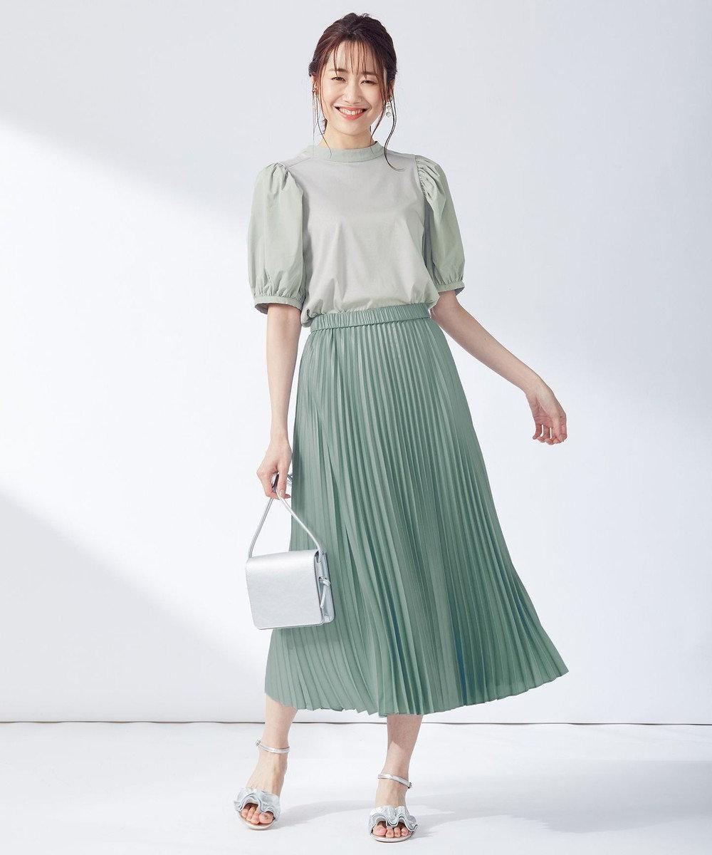 組曲 【春の新色2色登場!/洗える】アコーディオン プリーツスカート スモーキーグリーン系