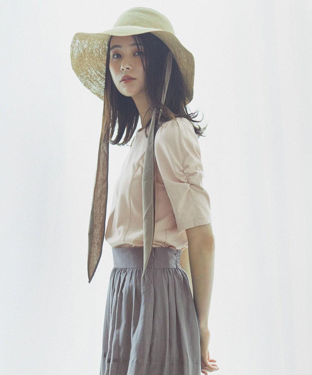 組曲 L 【洗える】コットンフォルム Tシャツ ピンク系