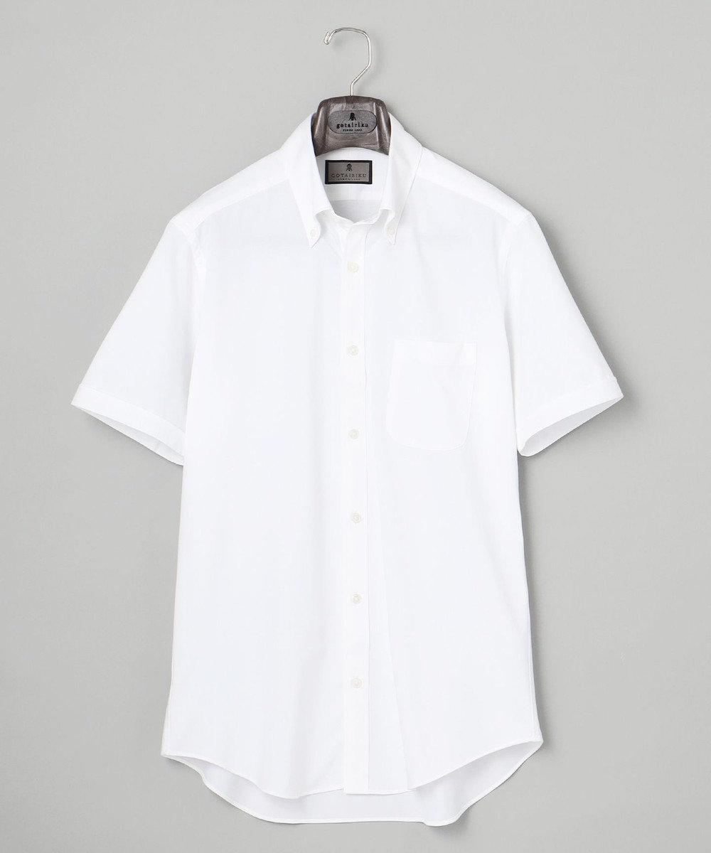 GOTAIRIKU 【COOLBIZ / リモートワークにも】COOLMAX 前開きポロシャツ ホワイト系